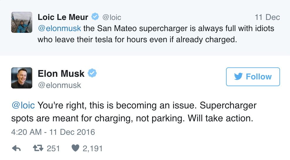 Social Customer Care - Elon Musk